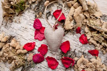 vintage textile heart
