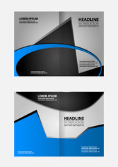 Corporate Bi Fold Brochure vector illustration