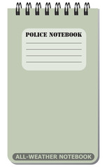 All-weather notebook used by police