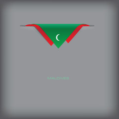 Banner Maldives with the national symbols