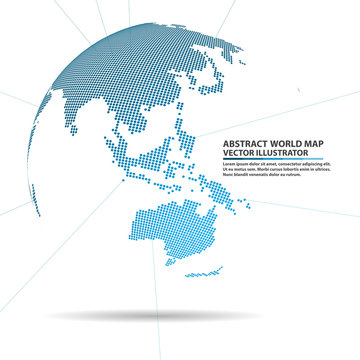 abstract planet,  Global network connection, elements Vector wor