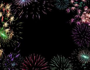 christmas  background firework  lights  pyrotechnic