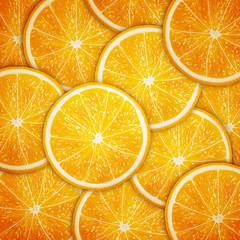 Orange fruit slices background