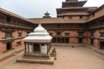 A temple in a courtyard at Patan Museum, Nepal