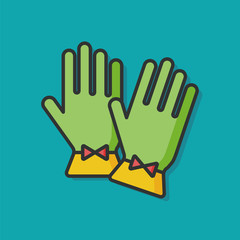 woman gloves vector icon
