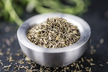 Portion of dried Thyme