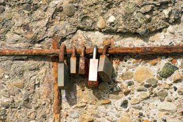 Old Rusty Padlocks - Love Symbol