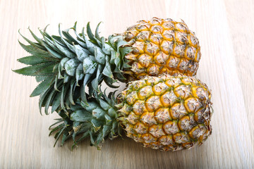 Two small pineapples