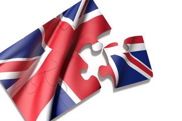 Puzzle United Kingdom flag