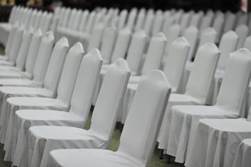 meeting white chair in seminar emtry people