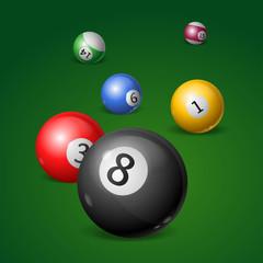 Billiard Balls. Vector