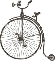 Vintage bicycle with large wheel