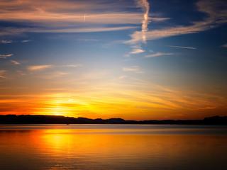 sunset at lake chiemsee (21)