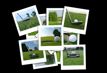 golf photos in a random composition