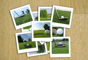 golf photos in a random composition