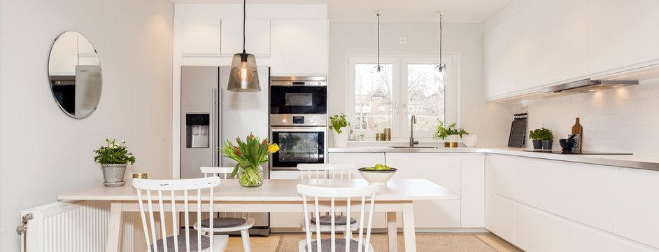 kitchen interior horizontal banner