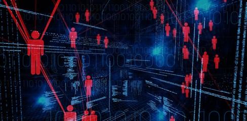 Composite image of illustration of virtual data