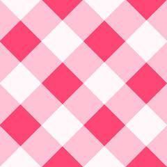 Pink White Diamond Chessboard Background Vector Illustration