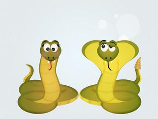 snake and cobra