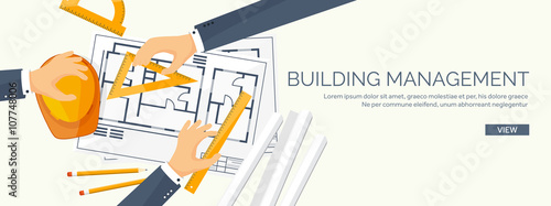 Vector Illustration Engineering And Architecture Drawing Construction Architectural Project Design