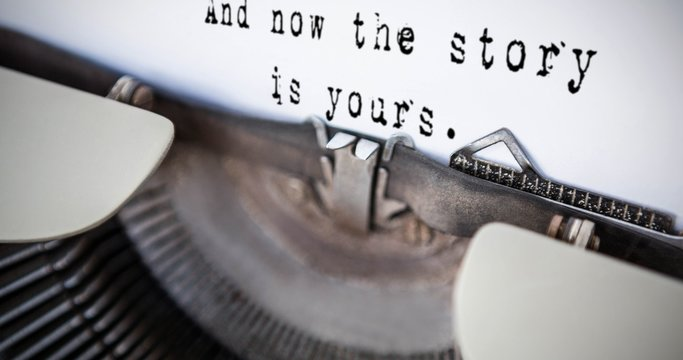 Composite image of a sentence