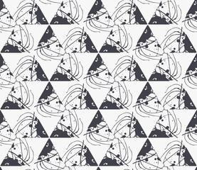 Geometric seamless pattern with paint splashes