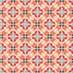 Ornamental pattern. Arabic seamless tiling