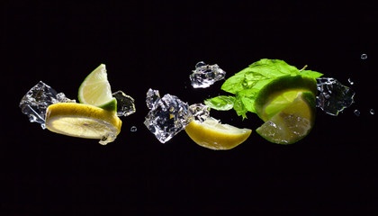 lime , lemon and peppermint