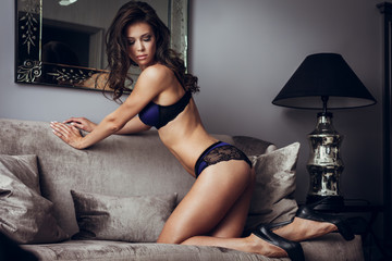 Sexy lingerie on a sofa