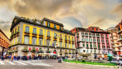 Foto auf AluDibond Neapel Piazza Trieste e Trento in Naples