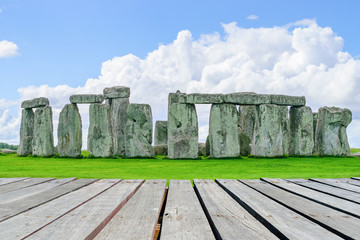 Wall Mural - Stonehenge with wooden walkway, Wiltshire, UK.