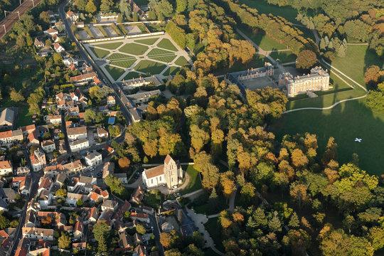 Château de Chamarande vue du ciel
