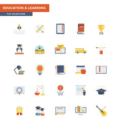 Flat Color Icons- Education and Learning