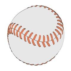 2d cartoon illustration of softball ball