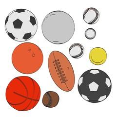 2d cartoon illustration of ball set