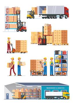 Logistics illustrations collection