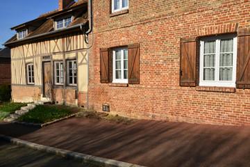 Lyons la Foret, France - march 15 2016 : the picturesque village