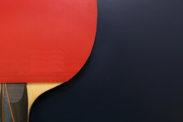 ping-pong racket on the table