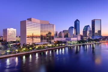 Staande foto Los Angeles Jacksonville Florida Skyline