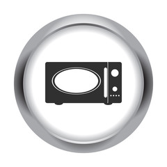 Microwave retro electronic sign simple icon on background