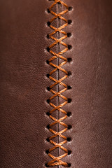 leather texture with a vertical seam