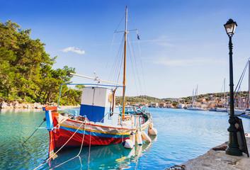 Beautiful bay of Gaios, Paxos island, Greece