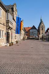 Rathaus und Marktplatz Stadthagen, Niedersachen / Deutschland