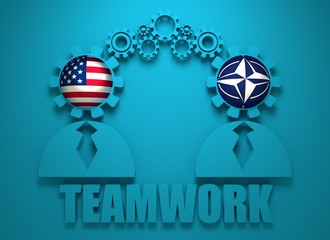Politic and economic relationship between USA and NATO