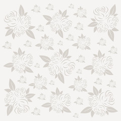 Roses concept or background. Flowers rose in vector illustration.
