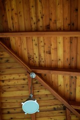 Cedar Wood Plank Ceiling 2 / Providing an interesting look, the tongue and groove cedar wood planked ceiling brings out the the beautiful natural rustic feeling.
