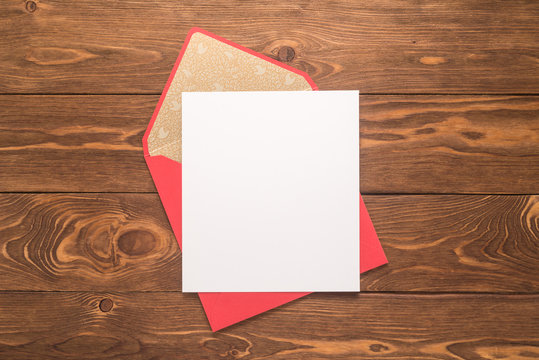Blank paper and envelope