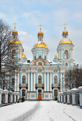 St. Nicholas Naval Cathedral in St.Petersburg, Russia