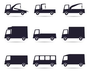 Truck icon set