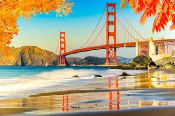 Printed kitchen splashbacks San Francisco Golden Gate, San Francisco, California, USA.